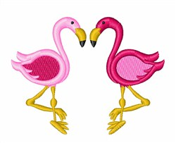 Pink Flamingos embroidery design