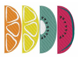 Fruit Slices embroidery design