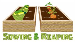 Sowing & Reaping embroidery design