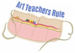 Art Teachers Rule embroidery design