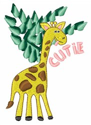 Cutie Giraffe embroidery design