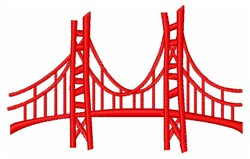 Golden Gate embroidery design