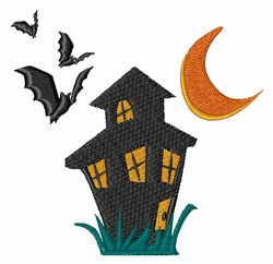Haunted House embroidery design