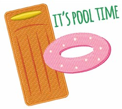Pool Time embroidery design