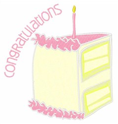Congratulations embroidery design