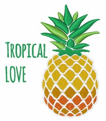 Tropical Love embroidery design