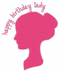 Happy Birthday Lady embroidery design