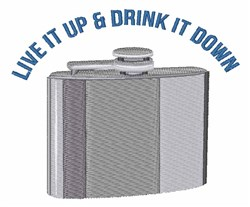 Silver Flask Drink embroidery design