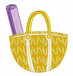 Beach Tote Bag embroidery design