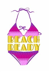 Beach Ready embroidery design