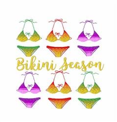Bikini Season embroidery design