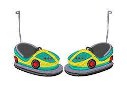 Bumper Cars embroidery design