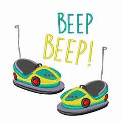 Beep Beep Cars embroidery design