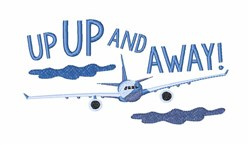 Up Up and Away embroidery design