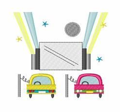 Drive In Movie embroidery design
