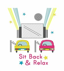 Sit Back & Relax embroidery design