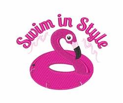 Swim In Style embroidery design