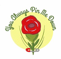 Pin Me Down embroidery design
