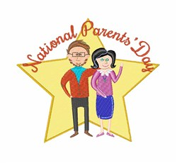 National Parents Day embroidery design