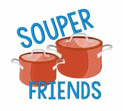 Souper Friends embroidery design