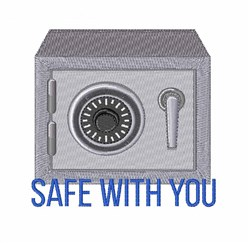 Safe With You embroidery design