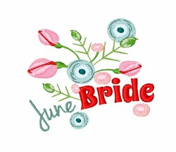 June Bride embroidery design