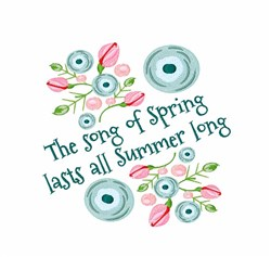 Song Of Spring embroidery design