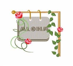 Aloha Sign embroidery design