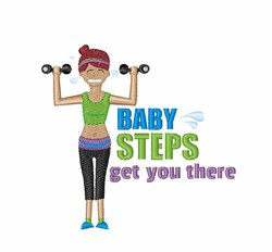 Baby Steps embroidery design