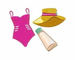 Beach Clothes embroidery design