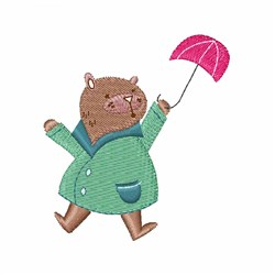 Umbrella Bear embroidery design