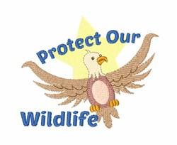 Protect Wildlife embroidery design