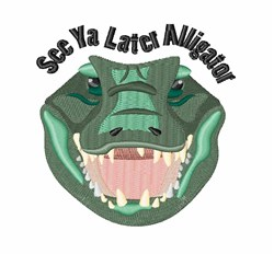 Later Alligator embroidery design