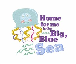 Big Blue Sea embroidery design