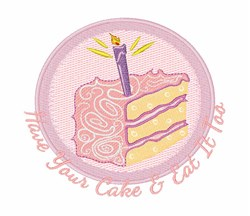 Have Your Cake embroidery design