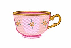 Tea Cup embroidery design