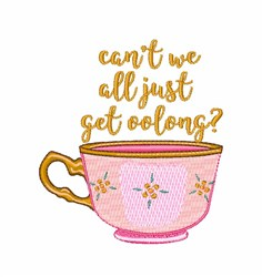 Get Oolong embroidery design