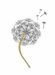 Dandelion embroidery design