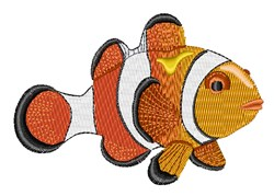 Clownfish embroidery design
