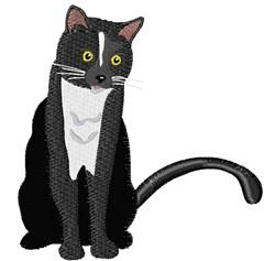 Black & White Cat embroidery design