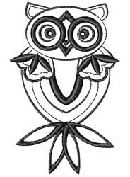 Blackwork Owl embroidery design