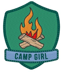 Camp Girl Patch embroidery design