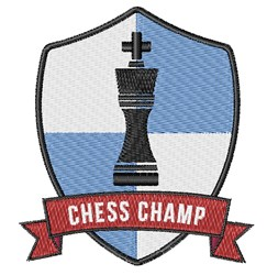 Chess Champ Patch embroidery design