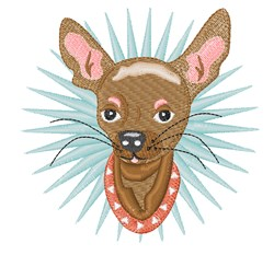 Chihuahua Head embroidery design