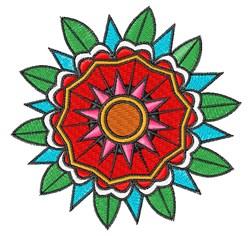 Geometric Flower embroidery design