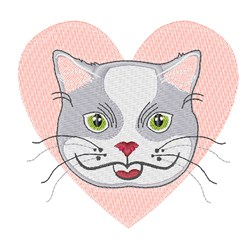 Love Cat embroidery design
