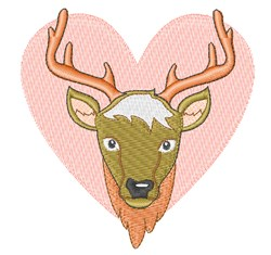 Love Deer embroidery design