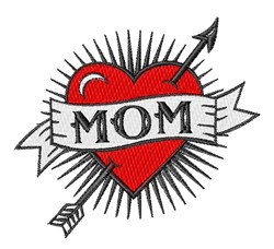 Mom Tattoo embroidery design