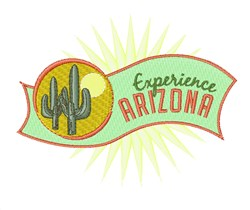 Experience Arizona embroidery design