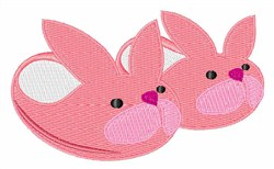 Bunny Slippers embroidery design